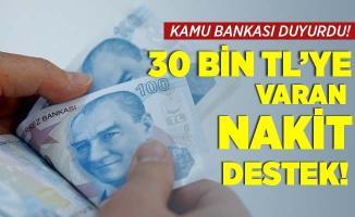 Kamu bankasından yüzleri güldüren açıklama! İhtiyacı olanlara 30 bin TL'ye kadar nakit destek! 6 ay geri ödeme yok!
