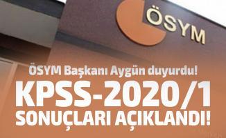 ÖSYM Başkanı Aygün duyurdu! KPSS-2020/1 sonuçları açıklandı!