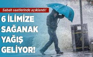 Sabah saatlerinde kritik uyarı yapıldı! 6 ilimize yağış geliyor!