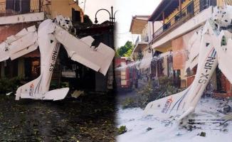 Son Dakika! Eğitim uçağı evlerin arasına düştü!