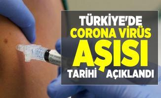 Türkiye'de corona virüs aşısı tarihi verildi!