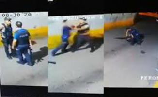 Bekçi ile polis tekme tokat birbirine girdi! Bekçi polis kavgası videolara böyle yansıdı