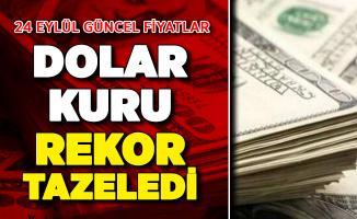 Dolar Kuru Rekor Tazeledi ! 24 Eylül Güncel Döviz Fiyatları