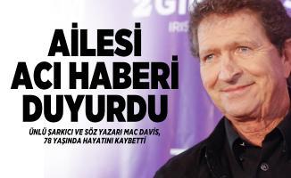 Dünyaca ünlü şarkıcı ve söz yazarı Mac Davis hayatını kaybetti