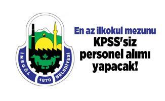 En az ilkokul mezunu Bursa İnegöl Belediyesi KPSS'siz personel alımı yapacak!