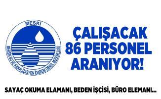 Mersin Su ve Kanalizasyon İdaresinde çalışacak 86 personel aranıyor!  Sayaç okuma elamanı, beden işçisi, büro elemanı...