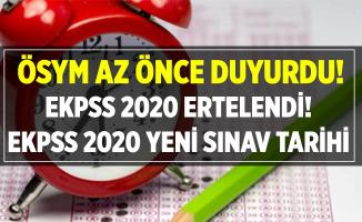 ÖSYM az önce açıkladı! EKPSS 2020 ertelendi! Yeni sınav tarihi ne zaman?
