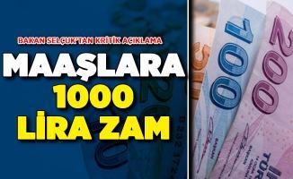 Taşerona Kadro Konusunda Bakan Selçuk Noktayı Koydu! 1000 Lira Zam Yapılacak Mı?