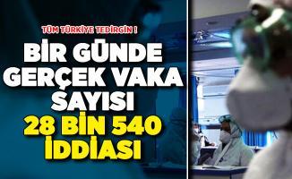 Türkiye'de Bir Günde 28.540 Vaka Olduğu İddiası