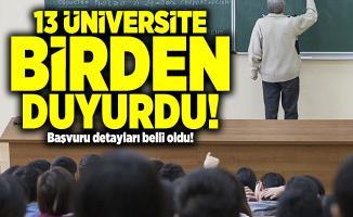13 Üniversite birden duyurdu! 185 Akademik personel alınacak!