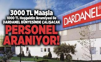 3000 TL Maaşla 1000 TL Hoşgeldin ikramiyesi ile Dardanel bünyesinde çalışacak personel aranıyor!