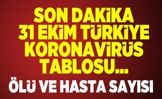 31 Ekim Türkiye koronavirüs tablosu açıklandı mı? Sağlık Bakanlığı 31 Ekim koronavirüs hasta ve ölü sayısı