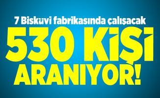 7 Bisküvi fabrikasında çalışacak 530 kişi aranıyor!