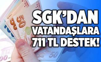 Başvuran PTT'den ödemesini alıyor! SGK'dan vatandaşlara 711 TL destek! İşte yapılması gerekenler!