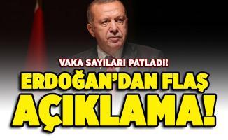 Corona virüs vakaları patladı! Cumhurbaşkanı Erdoğan'dan flaş açıklama