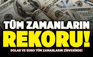 Dolar kuru tüm zamanların rekorunu kırdı! İşte güncel dolar ve euro fiyatları