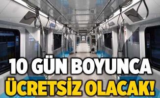 İstanbullulara metro müjdesi! 28 Ekim'de açılıyor, 10 gün boyunca ücretsiz olacak!