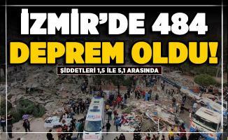 İzmir'de 1,5 ile 5,1 şiddeti arasında 484 artçı deprem oldu!