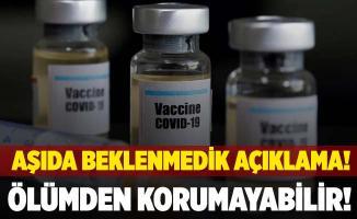 Koronavirüs aşısında beklenmedik açıklama! Ölümden korumayabilir!