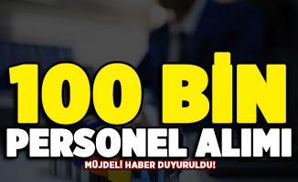 Müjdeli haber az önce duyuruldu! Kamuya 100 bin kamu personeli alımı