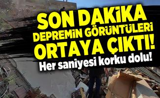 Son dakika İzmir'de 6,6 şiddetinde depremin görüntüleri ortaya çıktı! Her saniyesi korku dolu!