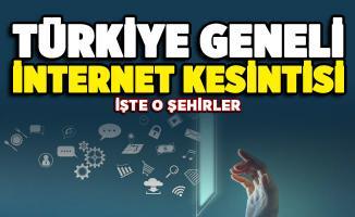 Türkiye geneli internet kesintisi! Nedeni açıklandı