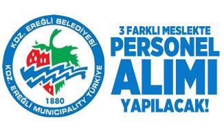 Zonguldak Ereğli Belediyesi Temizlik, Güvenlik Görevlisi ve Şoför alımı yapacak!