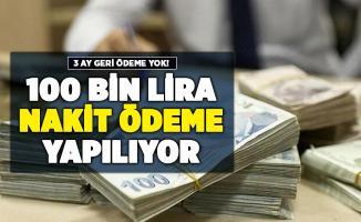 3 ay geri ödemesiz 100 bin lira veriliyor! Başvurular resmen başladı