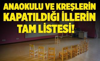 Anaokulu ve kreşler hangi illerde kapatıldı? Uzaktan eğitim kararı alan illerin listesi!