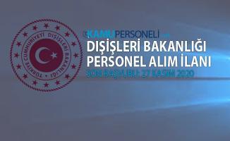 Dışişleri Bakanlığı personel alımı başvuruları 16 Kasım'da başlıyor!