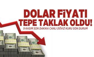Dolar fiyatı tepe taklak oldu! 9 Kasım son dakika canlı döviz kuru son durum