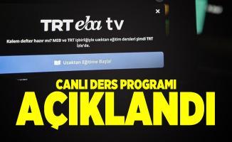 EBA canlı ders saatleri açıklandı! TRT EBA TV ders programı