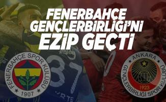 Fenerbahçe Gençlerbirliği maç sonucu belli oldu! Fenerbahçe gollerini atan isimler