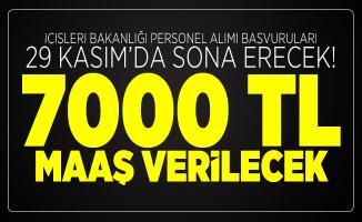 İçişleri Bakanlığı personel alımı başvuruları 29 Kasım'da sona erecek! 7000 TL maaş verilecek