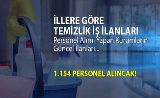 İŞKUR temizlik iş ilanları! 1.154 temizlik personeli alımı yapılacak!