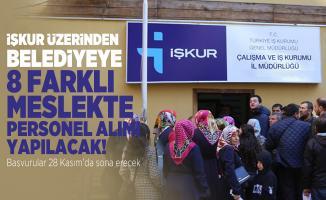 İŞKUR üzerinde belediyeye 8 farklı meslekte personel alımı yapacak! Başvurular 28 Kasım'da sona erecek