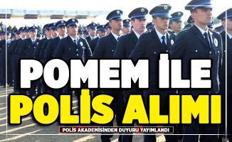 POMEM polis alımı için Polis Akademisinden duyuru yayımlandı!