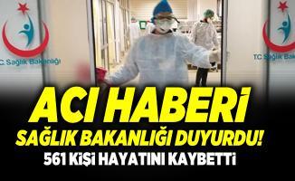 Sağlık Bakanlığı Covid 19 verilerini açıkladı! Türkiye'de son 1 haftada 561 kişi hayatını kaybetti