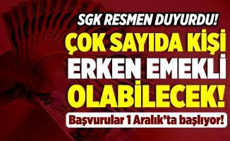 SGK resmen duyurdu! Çok sayıda kişi erken emekli olabilecek! Başvurular 1 Aralık'ta başlıyor!