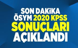 Son dakika ÖSYM 2020 KPSS sonuçları açıklandı