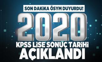 Son dakika ÖSYM duyurdu! 2020 KPSS lise sonuç tarihi açıklandı