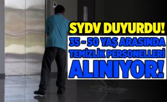 Sosyal Yardımlaşma ve Dayanışma Vakfına 35 - 50 yaş arası temizlik personelleri alınacak!