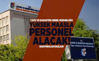 Tapu ve Kadastro Genel Müdürlüğü yüksek maaşla personel alacak! Başvurular başladı