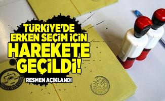 Türkiye'de erken seçim için harekete geçildi! Resmen açıklandı