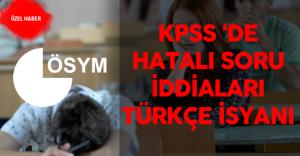 22 Mayıs 2016 KPSS 'de Hatalı Soru İddiaları