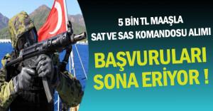 5 Bin TL Maaşla SAT ve SAS Komandosu Alımında Son Günler !