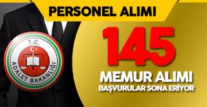 Adalet Bakanlığı 145 Memur Alımı Başvuruları Sona Eriyor