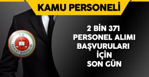 Adalet Bakanlığı 2 Bin 371 Personel Alımı için Başvurularında Son Gün