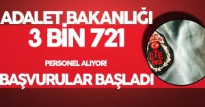 Adalet Bakanlığı 3 Bin 721 Sözleşmeli Personel Alımı Başvurular Başladı