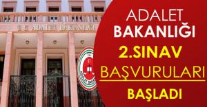 Adalet Bakanlığı Personel Alım Sınavı 2.Başvuruları Başladı